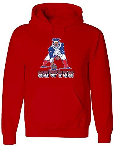 RED New England Newton Old School Logo Hooded Sweatshirt Youth Large