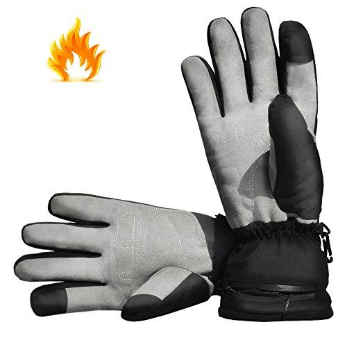 Aroma Season®   Beheizbare Handschuhe mit Akku   Warme beheizte Hände den ganzen Tag beim Skifahren, Snowboarden, Wandern, Angeln   hohe Heiz- und Akkuleistung   hochwertige Verarbeitung