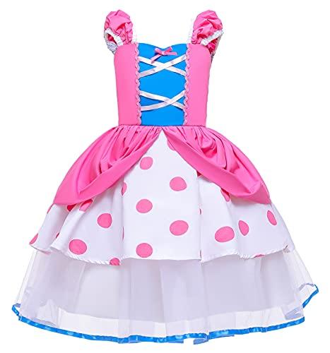 YOSICIL Costume da Principessa Rapunzel Bambina Halloween Compleanno Collana Orecchini Bacchetta Guanti Intrecciati Principessa Festa Costume Accessori Regalo per Le Ragazze(90-130)