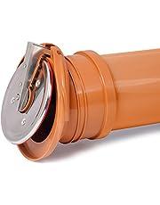 Pvc auto válvula de retención de tapa de plástico fin de activar remanso drenaje 160mm