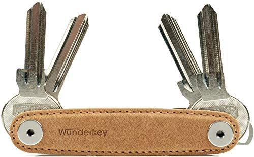 WUNDERKEY ® Leder – der Key Organizer Made in Germany [Schlüssel-Organizer | Schlüssel-Etui | Smart Key Gadget | das Original bekannt aus GQ & Lufthansa]