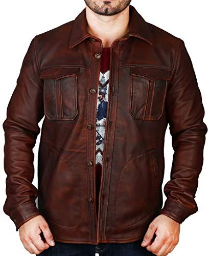 Superior Leather Herren Echtlederjacke, weiches Lammfell, gewaschenes, gewachstes Echtleder Gr. XXL - Brust (114 cm), hautfarben