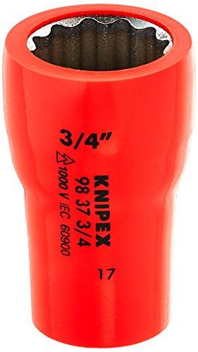 Knipex 98 37 3/4 Steckschlüsseleinsatz 3/4 Zoll, Länge in mm: 49, 1 Stück