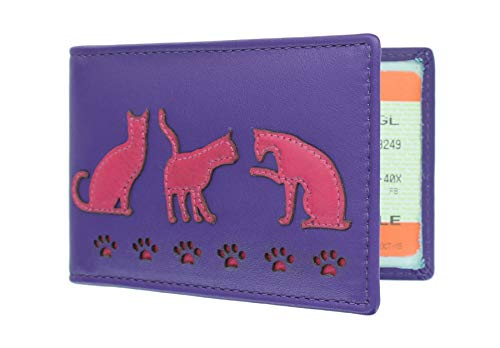 Mala Leather Colección Poppy Portatarjeta de Viaje 580TC_55 Púrpura