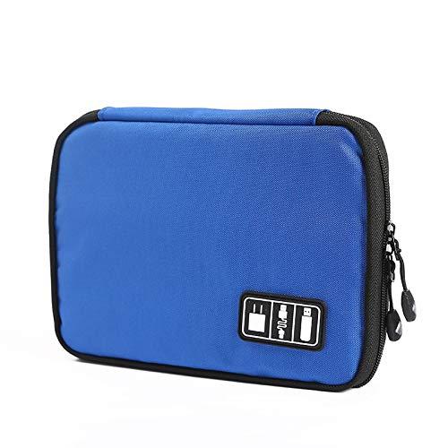 HBNNBV Cuero Reloj Caja Reloj Organizador Caja Banda de Cinta de embalar Caja de Almacenamiento portátil Correa de Reloj de Rodillos Soporte de la Bolsa Accesorios Guardar (Color : Royal Blue)