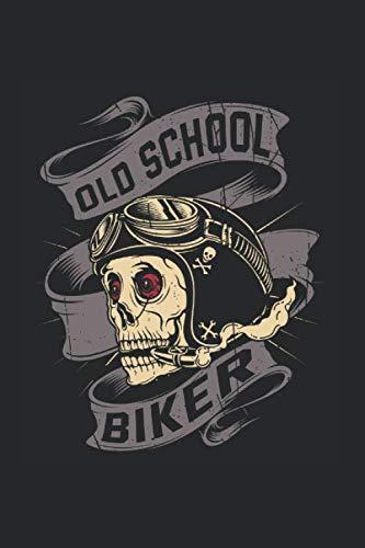 Old School Biker: Blanko A5 Notizbuch oder Heft für Schüler, Studenten und Erwachsene (Logos und Designs, Band 1708)