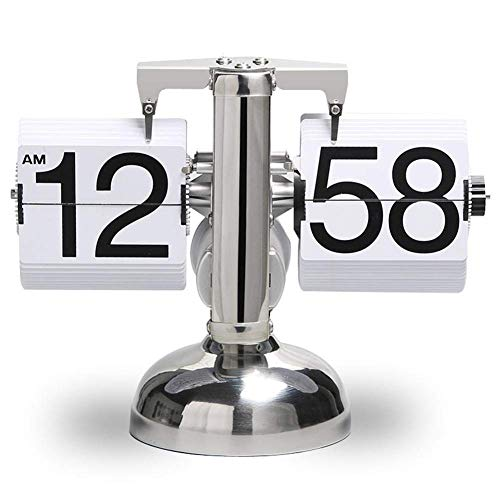 DEEWISH Movimento, Orologio a Vibrazione Automatico Retro Orologio da Parete Semplice, Semplice da Orologio, Orologio da Parete, Orologio Singolo, da Tavolo, in Acciaio Inossidabile