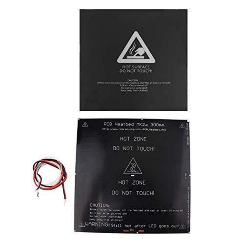 FYYONG Aluminum Heated Hot Bed Heatbed Platform+Sticker for MK3 3D Printer 300 * 300