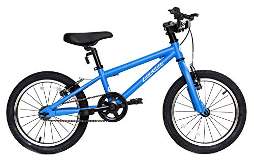 Aceger Kid's Bike for Boys and Girls, 14 inch with Training Wheels/16 inch with Kickstand,DIY Frame (Azure, 16 inch)