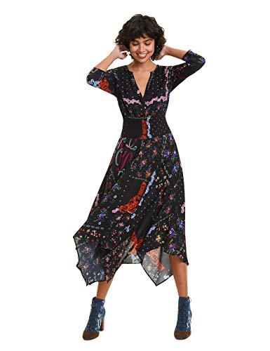 Desigual Damen Dress JANA Kleid, Schwarz (Negro 2000), (Herstellergröße: 40)