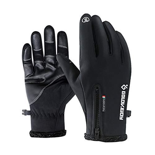 Imikeya winterhandschoenen, touchscreen, van fleece, winddicht, antislip, thermo-handschoenen voor lopen, klimmen in de buitenlucht