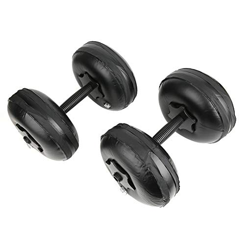 Dilwe Water Dumbbell, PVC Portable Adjustable Woman Fitness Dumbbell Weight 8-10kg Arm Yoga Shaping and Fitness Equipment