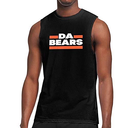 WLQP Camiseta sin Mangas para Hombre Men's Da Bears Sleeveless Muscle Shirts Workout Gym Running Tank Top