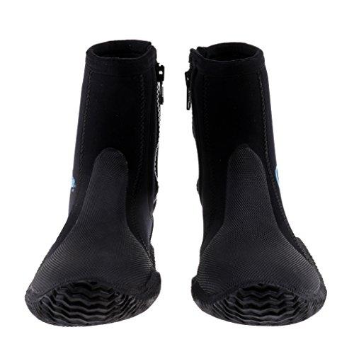 SM SunniMix Calcetines con Aleta de Neopreno de 5 Mm Botas de Neopreno para Hombres, Mujeres, Ideales para Deportes Acuáticos, Buceo, Surf, Actividades en La Play - US Tamaño 9