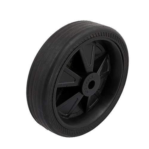 New Lon0167 150 mm Destacados de diámetro Rueda eficacia confiable de goma negra Llanta maciza Neumático Trolley Bote de basura Parte(id:309 a1 ba a23) ✅