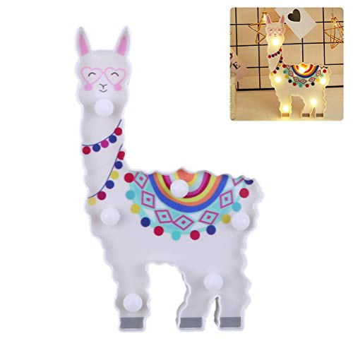 Gobbuy Led Night Light Alpaca Toy Sheep Acrylic Night Light Multicolor Touch Table Lamps Home Kids Gifts Suitable For Children, Birthdays