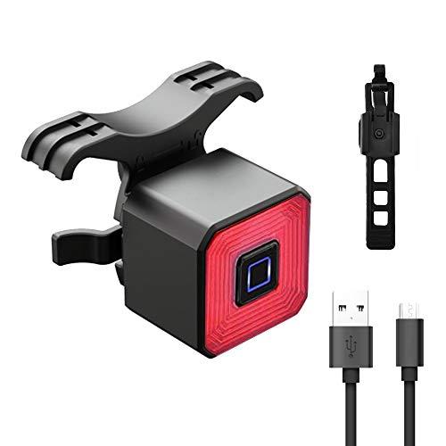 Guijiyi Luz Trasera Bicicleta,USB Recargable Luz Trasera MTB,Detección de Frenado Inteligente Luces...