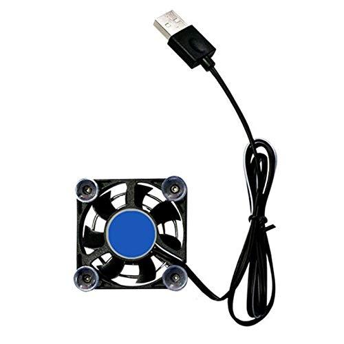 YUXIwang USB Mini ventilador negro USB almohadilla de enfriamiento controlador tableta portátil ventilador titular teléfono enfriador rápido