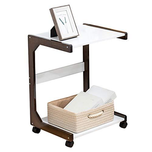 PLHMS 3 Tier Rollen Bambus-Service Küchenwagen, C Tabellen Dienstprogramm Mobilwagen, Speisewagen, für Heim Dinning Room Badezimmer Organisation Lagerregal, Beistelltisch,55cm