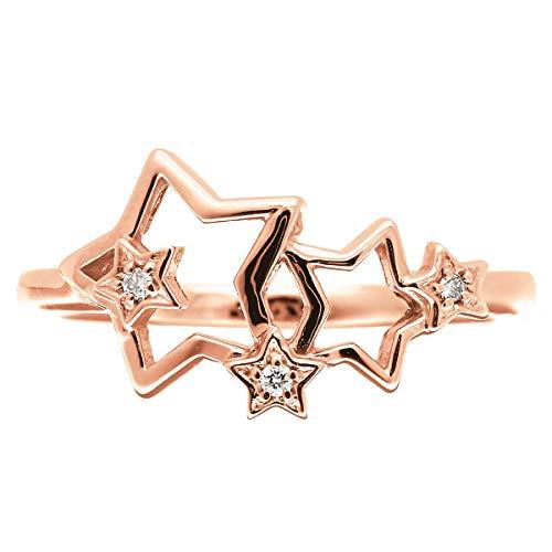 [ココカル]cococaru ダイヤモンド リング K18 ピンクゴールド 指輪 11号 星 スター 天然 ダイヤ 日本製