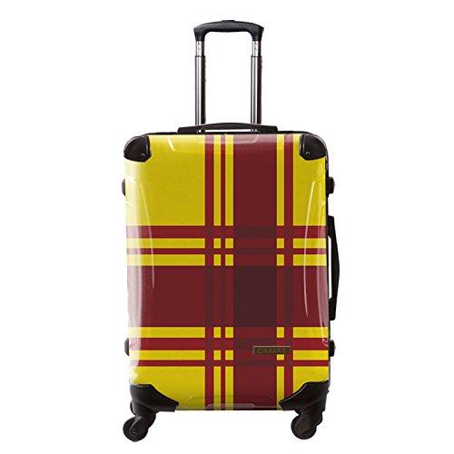 [キャラート] アート スーツケース ベーシック カラーチェックモダン レーム4輪 63L L 保証付 68 cm 4.1kg イエロー5