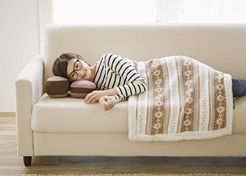 コジットホッとひと休みTVクッションブラウン幅30cmごろ寝に適した