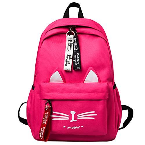ZEELIY Rucksack Für Schule, Mode Frauen Katze Muster umhängetasche Rucksack schüler Schule reisetascheCanvas Rucksack Schulrucksack Wanderrucksack Reisetasche