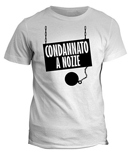 fashwork Tshirt condannato a Nozze- Addio al Celibato - Humor - in Cotone by