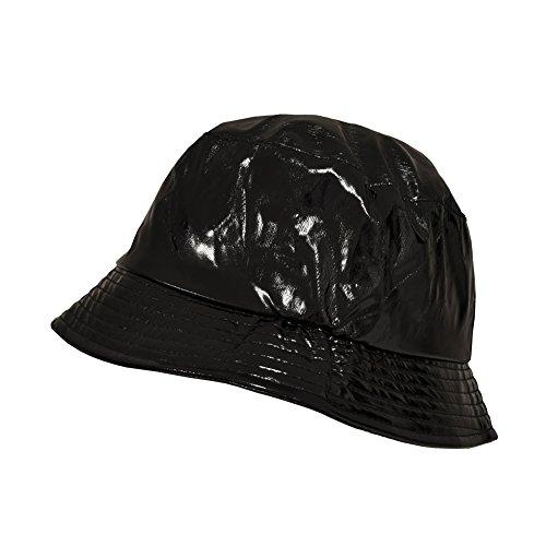 TOUTACOO, Cappello da Pioggia in Vinile Impermeabile - Nero