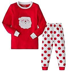 99369e013142 AMGLISE Christmas Pajamas Set Santa Claus Cotton Pajamas for Boys Girls Kids  Pjs Toddler Sleepwear