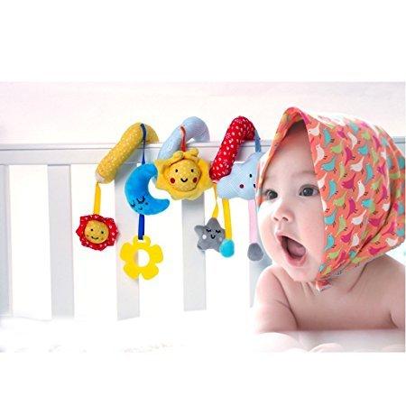 sfpong Caomoa Baby Kinderbett, spiralförmig, zum Aufhängen, Dekoration für Babybett, Autositz, Kinderwagen, Baby Boy M