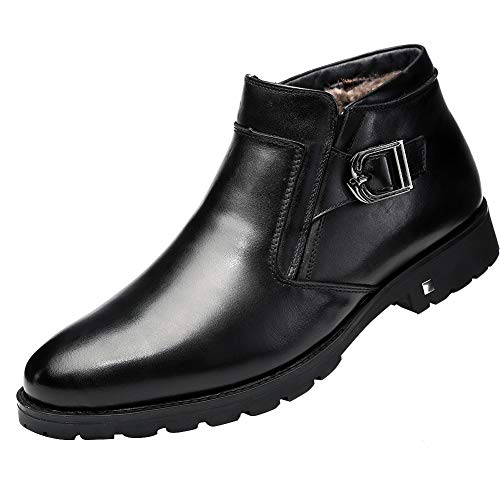 Leather Men Boots Winter Casual Shoes Warm Shoes for Men Zipper