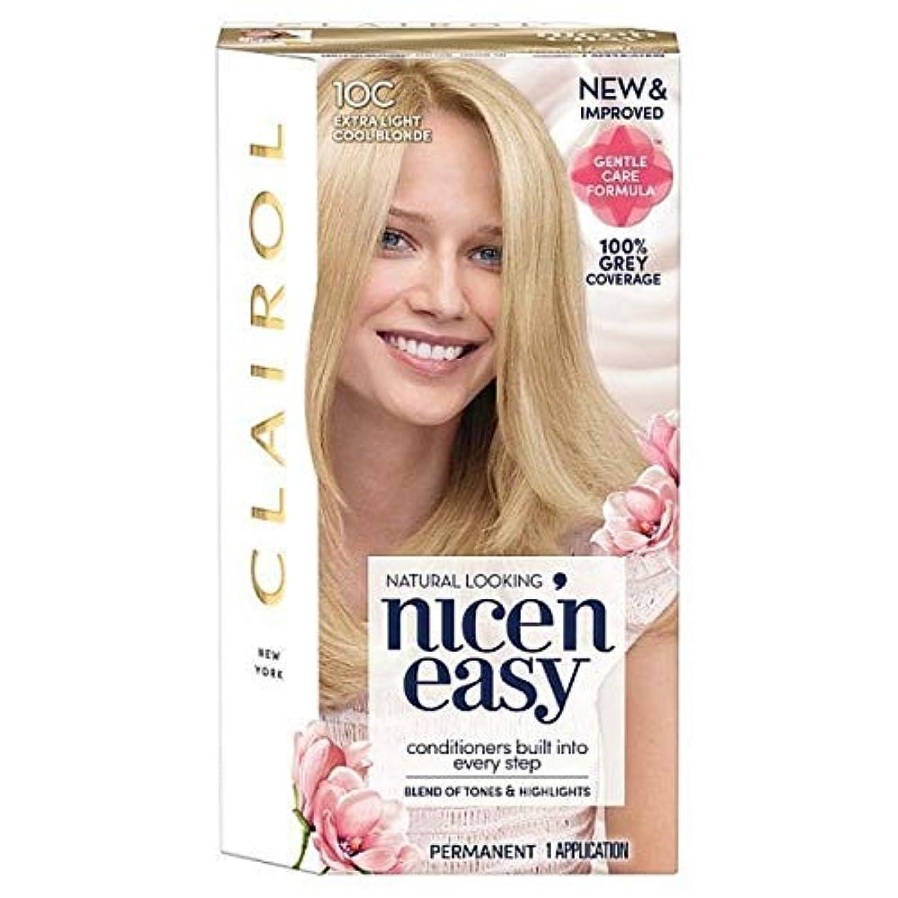 ファシズム静脈ミシン目[Nice'n Easy] Nice'N簡単10Cの余分な光をクールブロンド - Nice'n Easy 10C Extra Light Cool Blonde [並行輸入品]