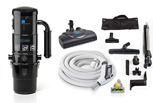 Prolux CV12000 Blue Central Vacuum Cleaner Unit System with Prolux Electric Hose Power Nozzle Kit 25 Year Warranty and HEPA Filtation System