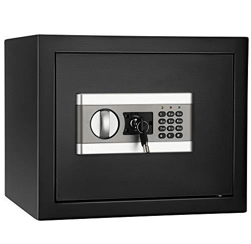 ETE ETMATE Caja fuerte de seguridad, caja de seguridad, archivador confidencial electrónico, con contraseña, todo de acero en la pared, caja fuerte para la oficina en el hogar