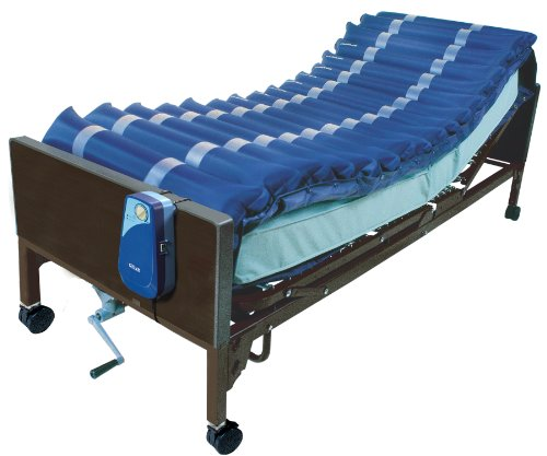 """Drive Medical 5"""" Med Aire Low Air Loss Mattress Overlay System with APP, Blue, 5"""""""