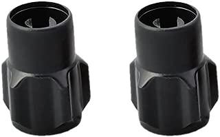 DAYTONA(デイトナ) ムシ回し付きバルブキャップ 2個入り 樹脂製 ブラック 92989