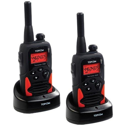 Topcom Twintalker 9500 PMR Set Walkie-Talkie con fino a 10 km di portata, incl. Toolbox per la conservazione