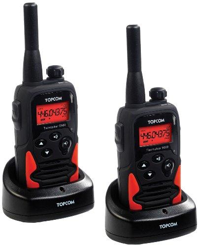 Topcom Twintalker 9500 PMR Funkgeräte-Set nach IPX2 geprüft (Tropwasserdicht) und einer Reichweite von bis zu 10 km
