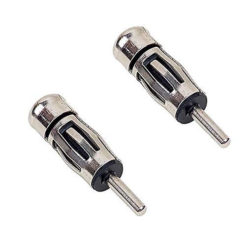 Audioproject A274-20 - 2 Stück Set Auto-Radio Antennenadapter ISO -> DIN - gerader Antennen-Stecker für PKW KFZ Antenne