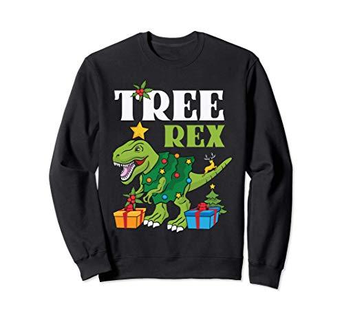 Árbol Rex Navidad Dinosaurio divertido Navidad Sudadera