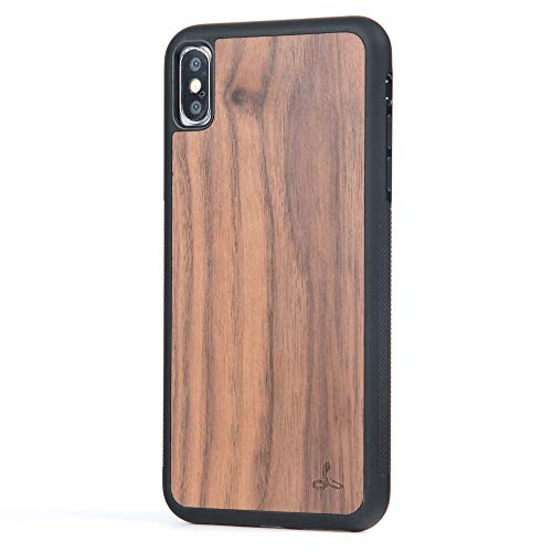 Snakehive iPhone Xs Max Case, Wood Back Case Wood Cover for iPhone Xs Max - Made from Real Wood - (Walnut)