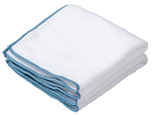 Envision Home 2 Pack Microfiber Baby Soft Dusting Cloths, 14-Inch by 14-Inch, White
