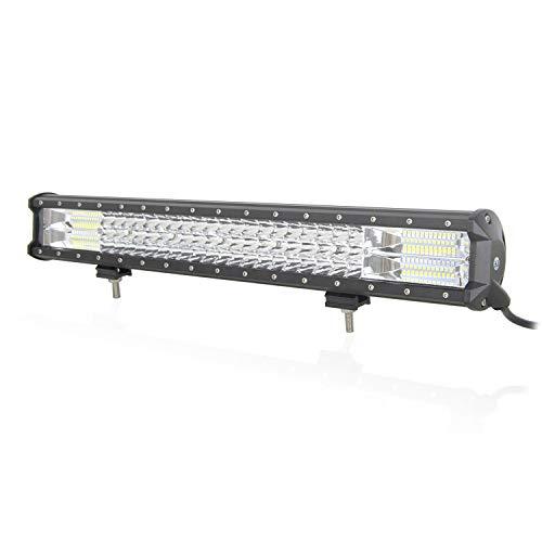 Auxtings 55cm 324W Triple Fila 7d LED Flood Spot Work Light Bar Combo Beam DC 12V-24V 6000K Vehículos todo terreno 4 x 4 ATV Utvs