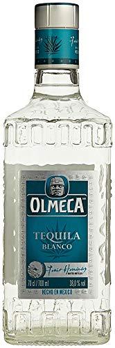 Olmeca Blanco Tequila Clasico / Klarer Tequila Silver mit süßer und belebender Agaven-Note / Mexikanische Spirituose aus dem Herzen der blauen Agave / 1 x 0,7 L