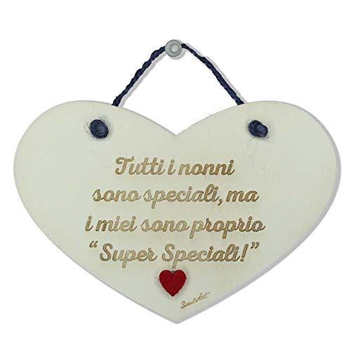 Dacl'Art Targa in Legno Nonni Super Speciali cun-19 Made in Italy