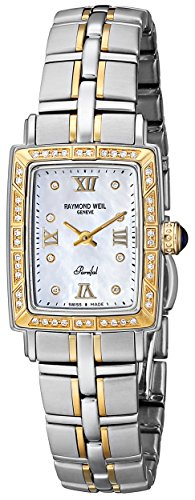 Raymond Weil Women's 9740-STS-00995 'Parsifal' 18k Gold-Plated Watch with Diamonds