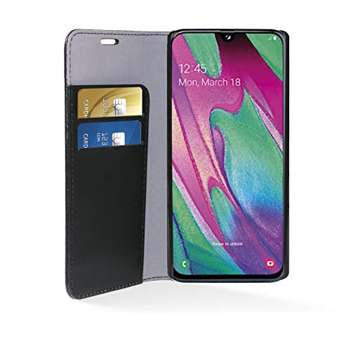 Phonix SA40BCB beschermhoes voor Samsung Galaxy A40, kunstleer, zwart