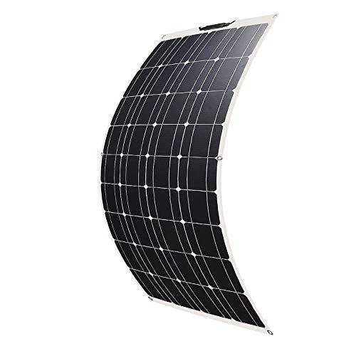 Betop-camp 100W ETFE Flex Semi-Flexibles Monocrystalline PV-Sonnenkollektor für Wohnmobil, Boot, Zelt, Auto, Anhänger, 12V-Batterie oder andere unregelmäßige Oberflächen