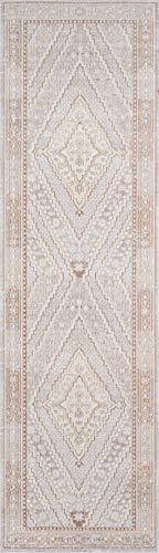 Momeni Isabella Teppich mit traditionellem geometrischem Flachgewebe Traditionell 2'7